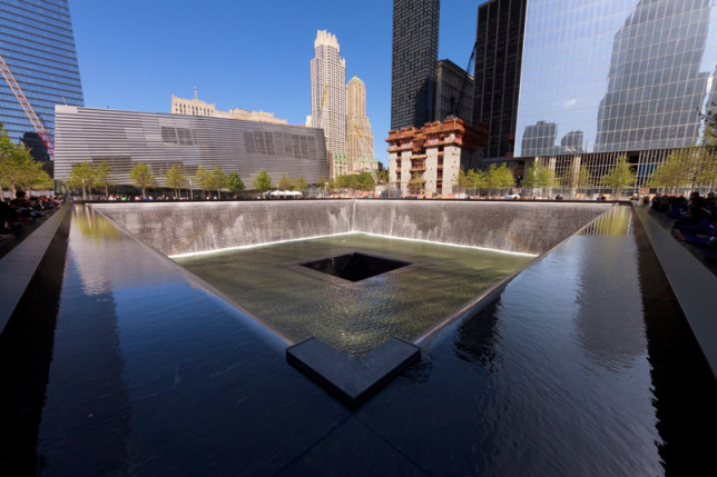 Reflecting pool at National September 11 Memorial